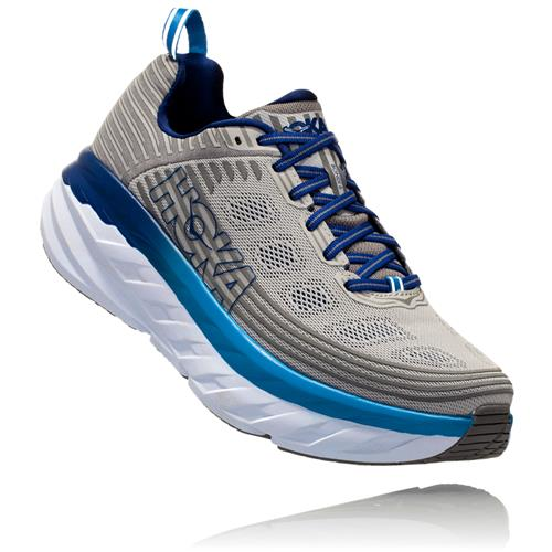 Hoka One One Bondi 6 Men's Wide EE Vapor Blue Frost Grey 1019271 VBFG