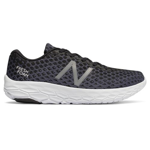 New Balance Fresh Foam Beacon Women's Wide D Running Shoe Black Magnet WBECNBKD