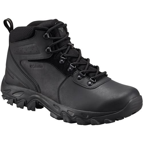 Columbia Newton Ridge Plus II Waterproof Wide EE Black Black Men's Hiking Boot 1594732 011