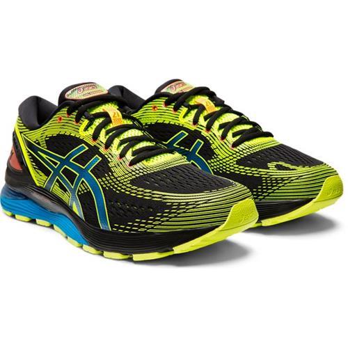 Asics Gel Nimbus 21 SP Men's Running Shoe Black Safety Yellow 1011A589 001