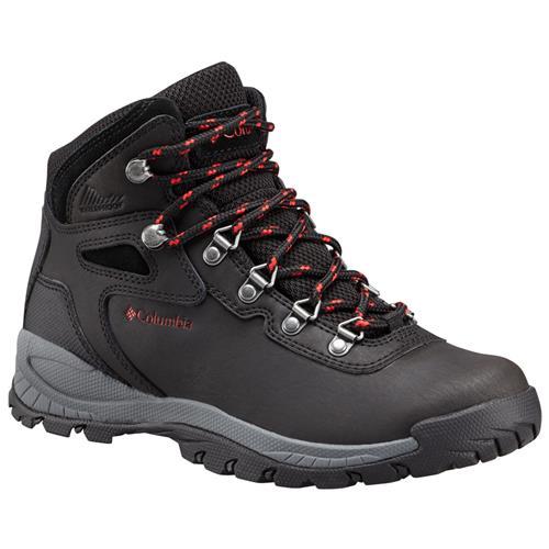 Columbia Newton Ridge Plus Women's Waterproof Hiking Boot Black Poppy Red 1424692 010