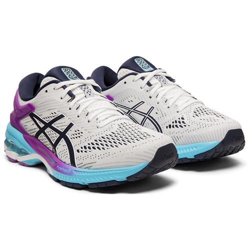 Asics Gel Kayano 26 Women's Running Shoe White Peacoat 1012A457 100