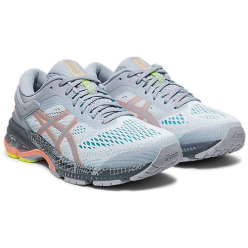 Asics Gel Kayano 26 LS Women's Running Shoe Piedmont Grey Sun Coral 1012A536 020