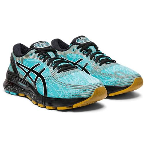 Asics Gel Nimbus 21 Winterized Women's Running Shoe Ice Mint Black 1012A541 400