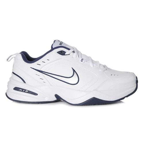 Nike Air Monarch IV Wide 4E Training Shoes White Navy 416355-102