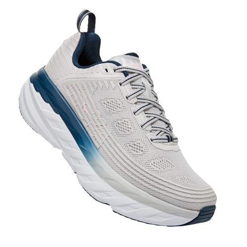Hoka One One Bondi 6 Women's Wide D Lunar Rock Nimbus Cloud 1019272 LRNC