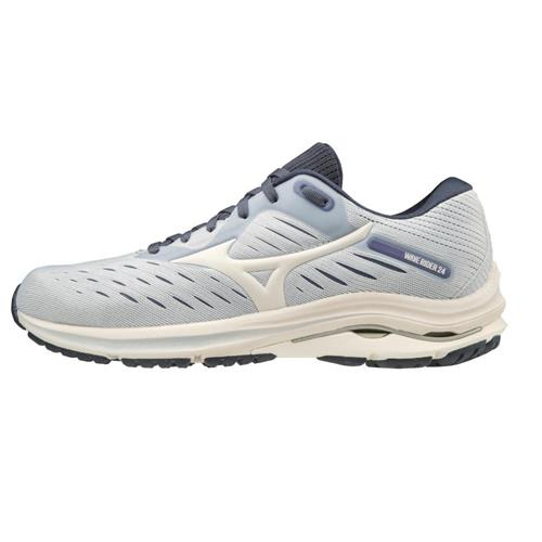 Mizuno Wave Rider 24 Women's Running Wide D Arctic Ice-Snow White 411230.570D