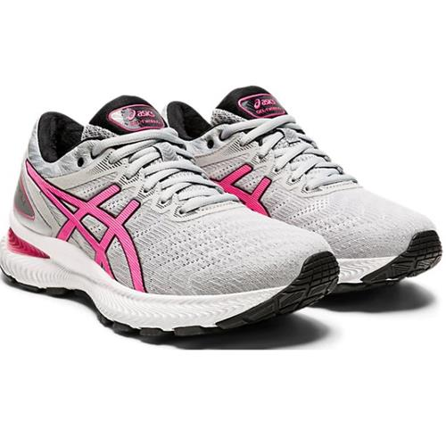 Asics Gel Nimbus 22 Women's Running Piedmont Grey Hot Pink 1012A587 021