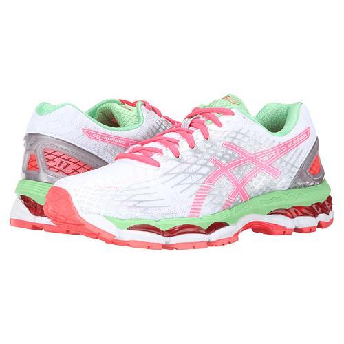 Asics Gel Nimbus 17 Womens Running Shoe White Hot Coral Apple T557N 0123