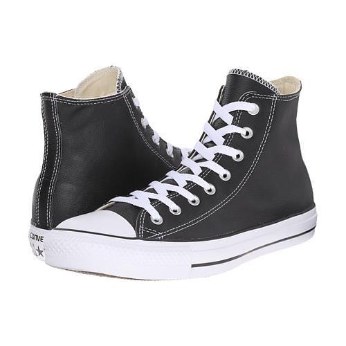 Converse Chuck Taylor All Star Hi Leather Black White 132170C