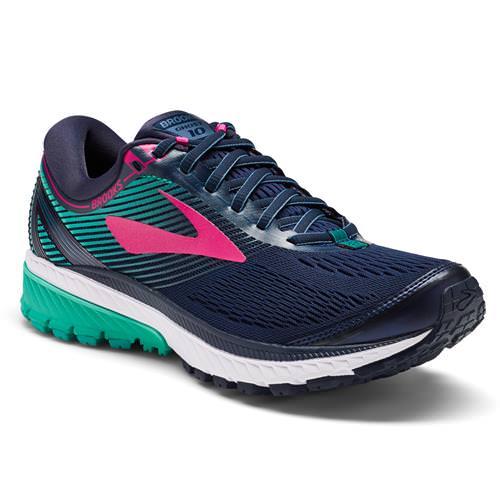 Brooks Ghost 10 Women's Running Navy Pink Teal Green 1202461B451