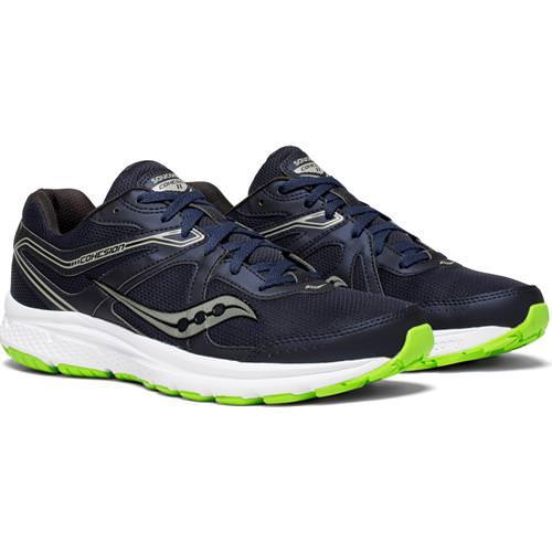 Saucony Cohesion 11 Men's Running Shoe Wide EE Navy Slime S20421-1
