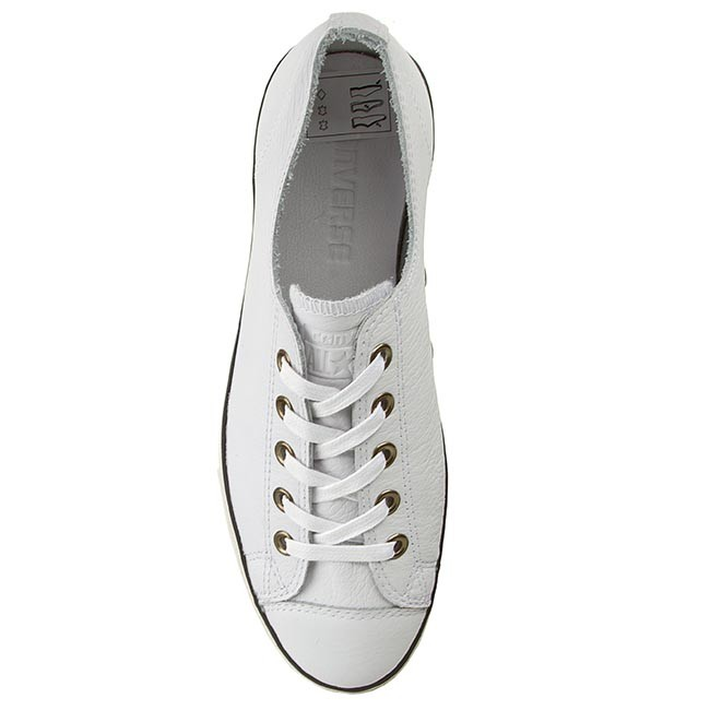 white converse with black