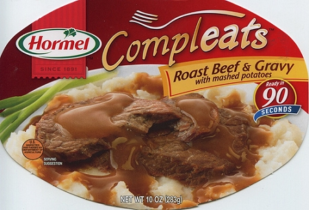 Hormel Compleats Homestyle Roast Beef and Mashed Potatoes