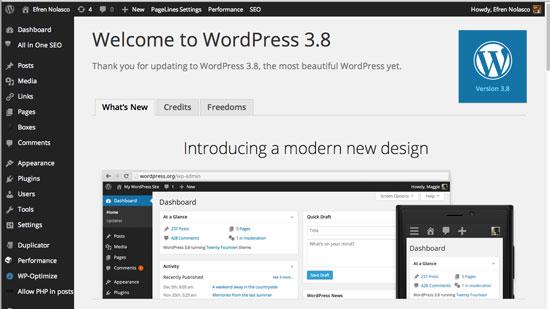 Wordpress-3.8-Parker