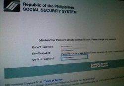 Reset SSS password
