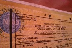Late registration of birth certificate