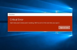 Window 10 Critical error