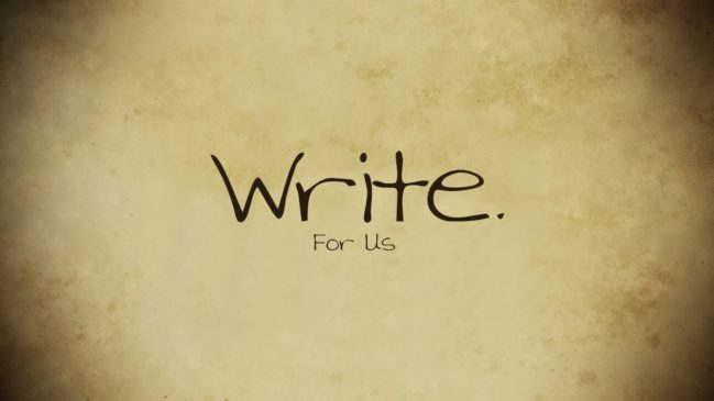 Write For us