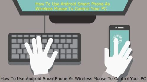Android smartphone as a wireless mouse