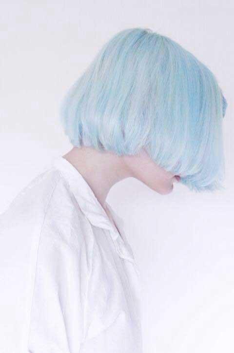 plava bob frizura