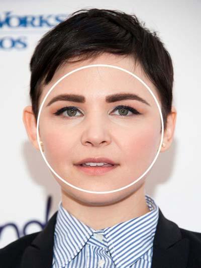 okruglo lice sa kratkom frizurom