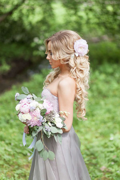 duga frizura za venčanje
