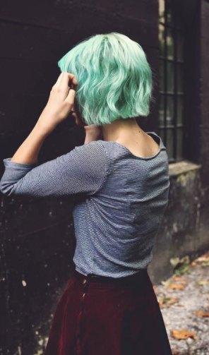 pastelno zeleni bob