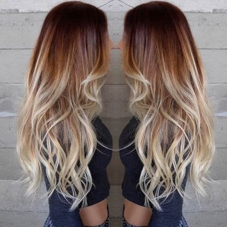 ombre na kosi