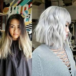 metalik siva boja kose