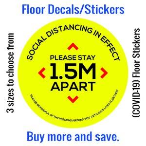 Coronavirus (COVID-19) Floor Sticker – 01