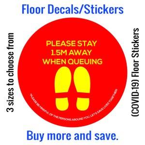 Coronavirus (COVID-19) Floor Sticker – 06