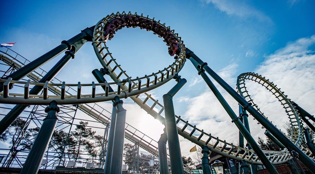 Python steel roller coaster  Efteling