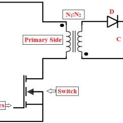 Transformer Diagram And How It Works Ford Wiring Stereo Switch Mode Power Supply Fly Back Converter Type Smps