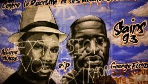 La fresque en hommage à Floyd et Traoré vandalisée