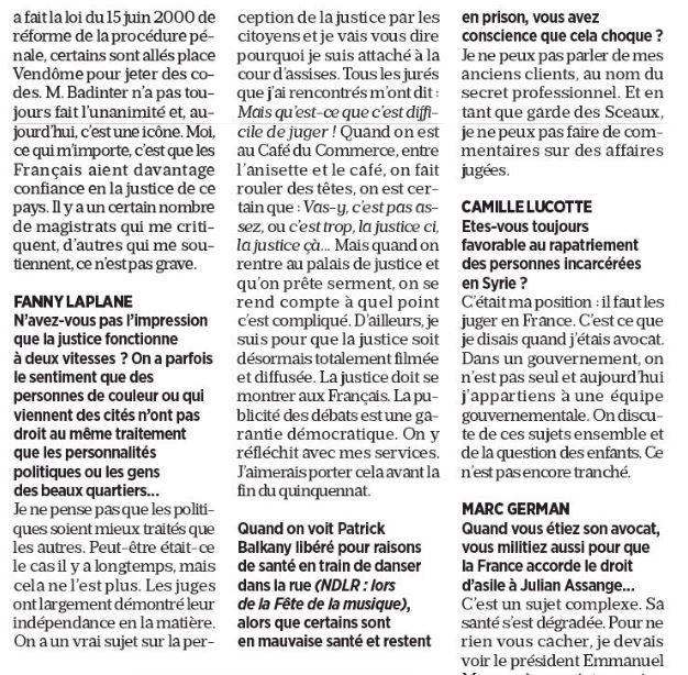 """Dupond-Moretti souhaite """"que la justice soit désormais totalement filmée et diffusée"""""""