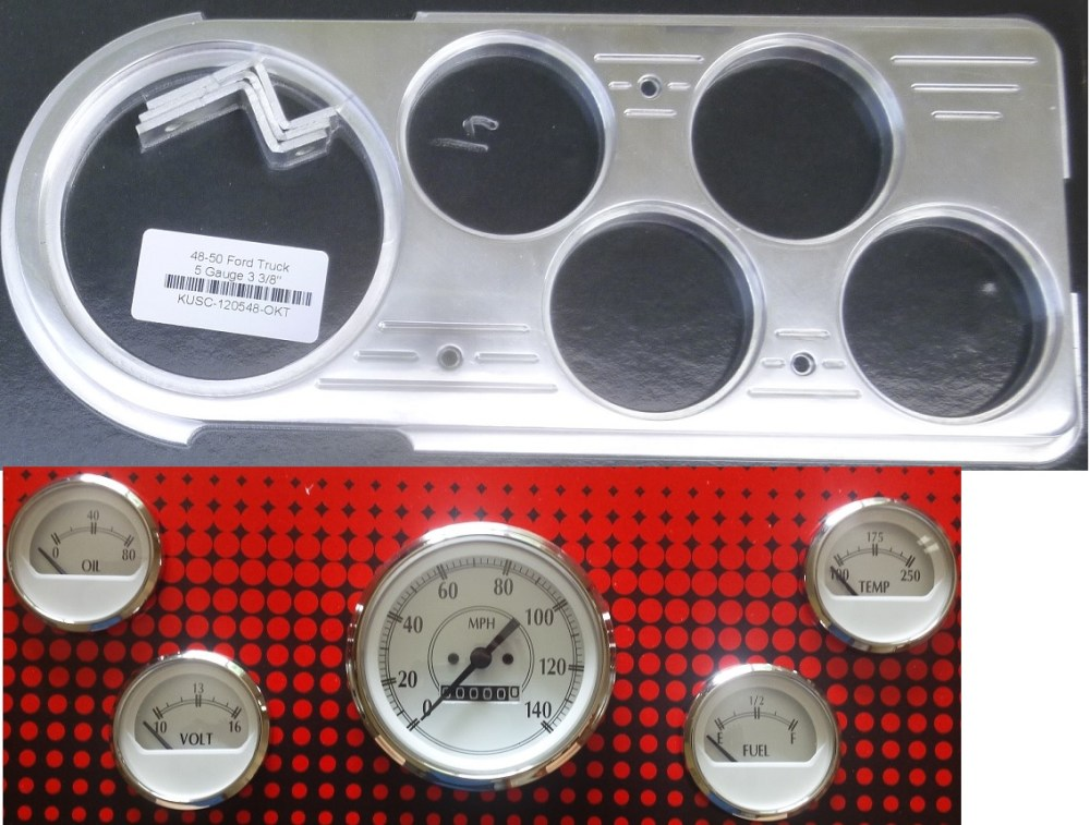medium resolution of 48 50 ford truck gauge packages