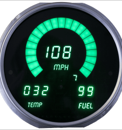 72 85 jeep digital dash green dp6011g [ 960 x 960 Pixel ]
