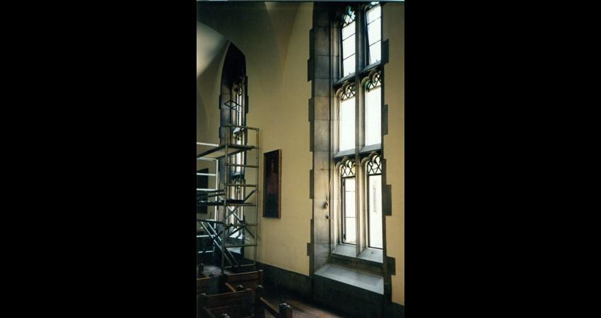 Hart House University of Toronto EGD Glass Restoration - Window Under Construction