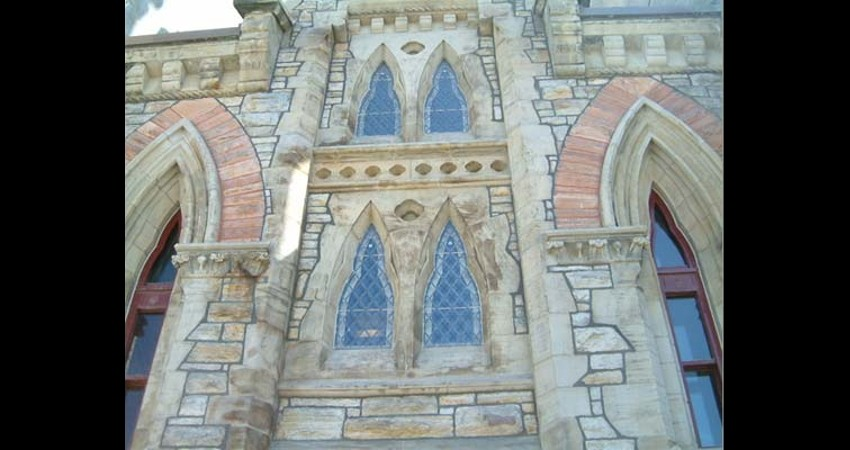 Library of Parliament Ottawa Ontario EGD Glass Restoration - restored windows after