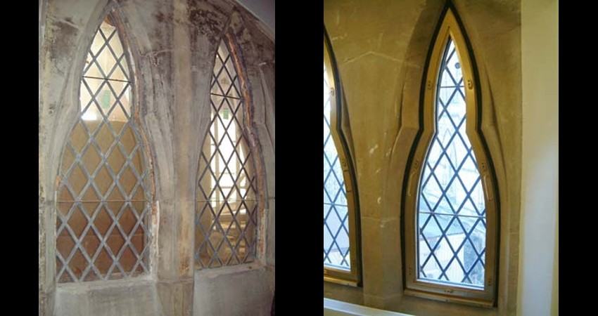 Library of Parliament Ottawa Ontario EGD Glass Restoration - Window Damage