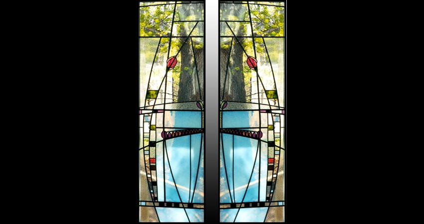 Private Residence High Park Toronto New Work Original Stained EGD Glass Marilyn Windows