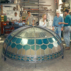 Private Residence, Oakville, Ontario Stained Glass Portfolio New Work Dome