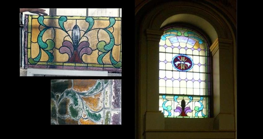 St. Paul's Basilica Toronto Ontario EGD Glass Restoration Clerestory window