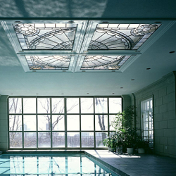 Private Residence, Indoor Swimming Pool EGD Glass New Work Stained Glass Portfolio