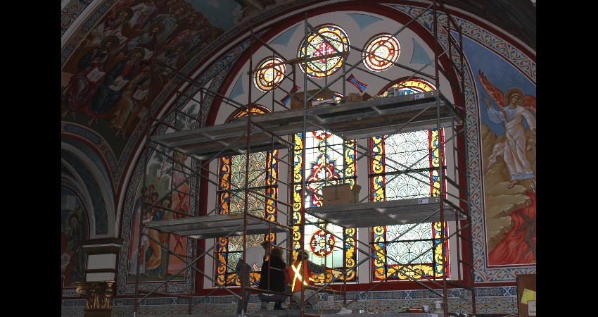 Holy Trinity Russian Orthodox Cathedral EGD Glass Restoration 1