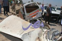 حادث تصادم على الطريق الزراعى ببنى سويف |