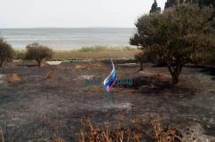 غار الملح : حريق باحد الحقول اندلاع حريق بأحد الحقول  