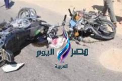 مصرع ثلاثة أشخاص إثر إصطدام دراجتين بخاريتين ببلبيس |