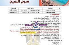 الشباب والرياضة تعلن عن انطلاق فوج إلى مدينة شرم الشيخ |